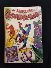 The Amazing Spider-Man #21 2nd Appearance Beetle Human Torch ASM 1965 Lee Marvel