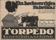 Werbung: FRANKFURT/M, 1914, Weilwerke GmbH Torpedo Schreibmaschine