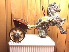 Vintage pedal horse and cart