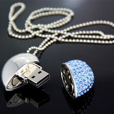New Crystal Shining Heart 8GB USB 2.0 Flash Memory Stick Pen Drive U Disk UM
