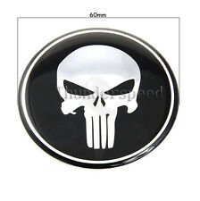 1pcs Punisher Logo Badges Car Steering Wheel Center Cap Decals Stickers 60mm