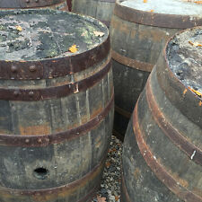 Rustic 65 Gallon Solid Oak Whiskey Barrels  - Tubs | Tables | Ornaments | Bar