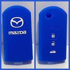 MAZDA 3 2 6 D BLUE CAR KEY COVER CASE HOLDER NEW SILICONE HOT BRIGHT MPS CX7 CX9