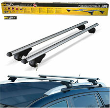 M-Way 135cm Aero Dynamic Lockable Aluminium Roof Bars for Ssangyong Kyron