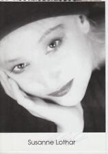 Susanne Lothar (1960-2012) Funny Games, de los lectores-original autógrafo mapa