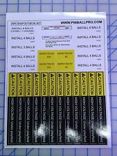 Williams WPC Shop Out Decals Stickers for Pinball Machine restoration repair