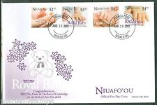 NIUAFO'OU 2013 BIRTH OF PRINCE GEORGE SET OF FOUR  FIRST DAY COVER