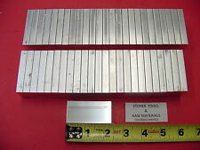 "50 Pieces 3/8""x 1-1/4"" ALUMINUM 6061 FLAT BAR 2.375"" long T6511 Solid Mill Stock"