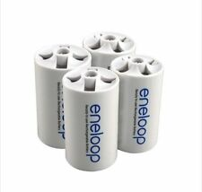 Battery Adaptor Converter Case 4pcs/lot Sanyo Eneloop AA Size to D Type Battery