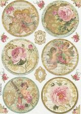 Papel De Arroz Para Decoupage Decopatch Scrapbook Craft Hoja Vintage Angels