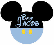 DISNEY BABY BOY MICKEY MOUSE PERSONALIZED TSHIRT IRON ON CUSTOMIZED TRANSFER 052