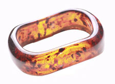 Unique Amber Effect Brown & Black Spec Wavy Hand Bangle(Zx192)