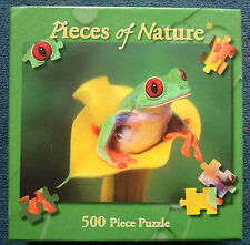jigsaw puzzle 500 pc Peekaboo Red-Eyed Green Tree Frog Planet Zoo