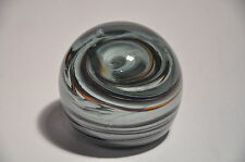 VINTAGE MDINA ART GLASS ABSTRACT PAPERWEIGHT SIGNED