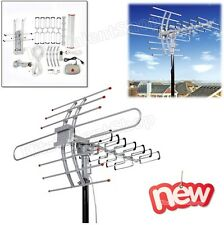 HDTV Outdoor Amplified Antenna Digital 1080P HD TV 360 Rotor 150 Mile UHF/VHF HQ
