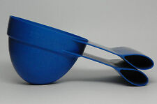 Dog Food Bag Clip & Scoop for Dry Food, with 1 & 2 Cup Markings, Blue Plastic