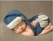 Newborn Baby Girls Boys Crochet Knit Costume Photo Photography Prop Outfit A-3