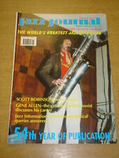 JAZZ JOURNAL INTERNATIONAL VOL 54 #11 2001 NOVEMBER SCOTT ROBINSON GENE ALLEN