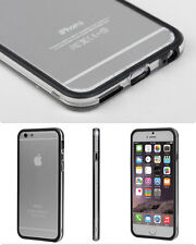 Ultra-Thin Aluminum Metal Bumper Clear Back Case Cover for iPhone 6s PLUS Black