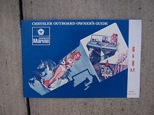 1973 Chrysler Marine Outboard 6 8 HP Owner Manual MORE BOAT ITEMS IN OUR STORE S