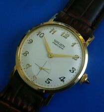Stunning Vintage 1960s Mans GRUEN Precision  Hand Winding  White Dial