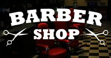 Barber Shop vinyl sticker window door sign scissors mirrors salon barbershop