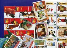 FANTASTIC WALT DISNEY COLLECTION OF 100 DIFFERENT MINT STAMPS!