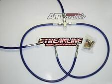 """STREAMLINE +1"""" FRONT BRAKE LINES LINE KIT ATV BLUE HONDA TRX300EX 1993-2012"""
