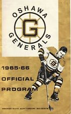 Bobby Orr 1965-66 Oshawa Generals Program Boston Bruins