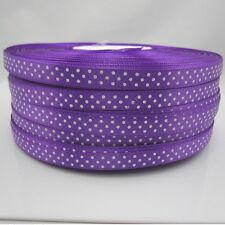 NEW 100 Yards 3/8 9mm Polka Dot Ribbon Satin for Craft Supplies making purple