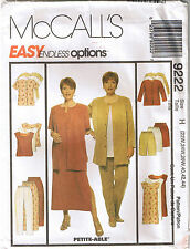 Womens Pullover Top Dress Boxy Jacket Pants Shorts Sewing Pattern Plus 22 24 26