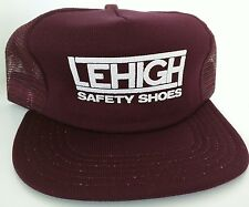 Lehigh Safety Shoes Vintage Trucker Style hat Mesh Foam Snapback Made in USA