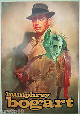 HUMPREY BOGART cartolina per Expocartoon Roma anni 90