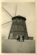 PHOTO ANCIENNE - VINTAGE SNAPSHOT - MOULIN À VENT STRANGNAS SUÈDE - WINDMILL 56