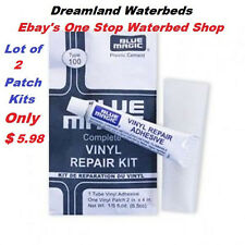 2 Individual Blue Magic WATERBED PATCH KITS-Vinyl Mattress Repair-FREE SHIPPING