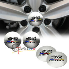 4PCS 56.5mm MUGEN POWER Aluminum Auto Car Wheel Center Hub Cap Emblems Stickers