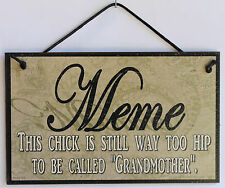 Meme s Sign Paisley Grandma Hippy Hippie Woodstock 1960 1970 Folk Retro Mom #1