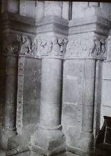 Collégiale Saint Ours Vestibule Columns,Loches, Glass Magic Lantern Photo Slide
