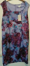 Monsoon Purple Floral CLARISSA Galaxy SCUBA Stretch Shift Dress uk 22 bnwt