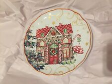 1 Williams Sonoma Twas the Night Before Christmas Salad Plate Ginger Bread House