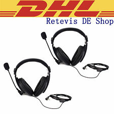 2PCS Headphone for funkgeräte RETEVIS/KENWOOD/BAOFENG/TYT/WOUXUN/PUXING DE DHL