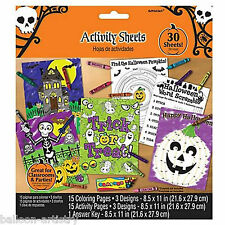31 Piece Halloween Horror Trick Or Treat Colouring & Activity Party Game Set
