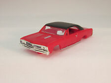MODEL MOTORING RED/BLACK VINYL TOP  '67 CHEVELLE SHELL ~ NEW~FITS AURORA TJET