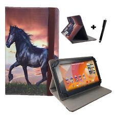 Motiv Tablet Tasche - Jay-tech 755N 17,8cm Hülle mit Stand - 7 Zoll Pferd Ponny