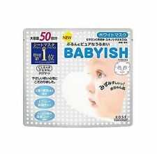 Clear Turn Babyish Whitening Face Mask 50 sheets Kose Cosmeport Made in Japan