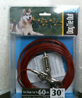 30 FT Cable Tie Out For Dog Up To 60 Lb Pet Leash Red