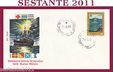 ITALIA FDC ROMA 1973 ISTITUTO IDROGEOGRAFICO MARINA MILITARE ANNULLO GENOVA G463
