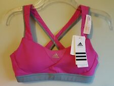 NWT Adidas Women's MEDIUM Supernova HIGH IMPACT Sport Athletic Bra PINK  #534916
