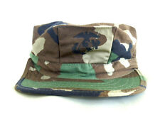 USMC cap, utility, woodland camouflage . EGA 8 point  Made in U.S.A.size Medium