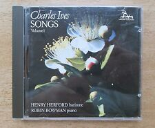Unicorn 1991~Charles IVES: 27 SONGS (Vol.1)~Henry HERFORD bar/Robin Bowman piano